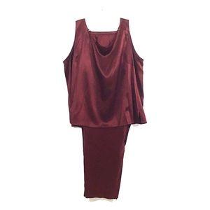 Emanuel Ungaro Silk Sleeveless Pajama Set Sz 24